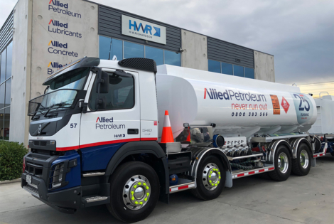 Allied truck outside of HWR Group premises